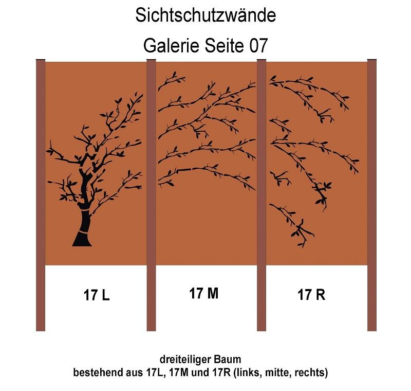 Design Sichtschutzwand Inc Pfosten Sw003 Rostelement Jabo Design