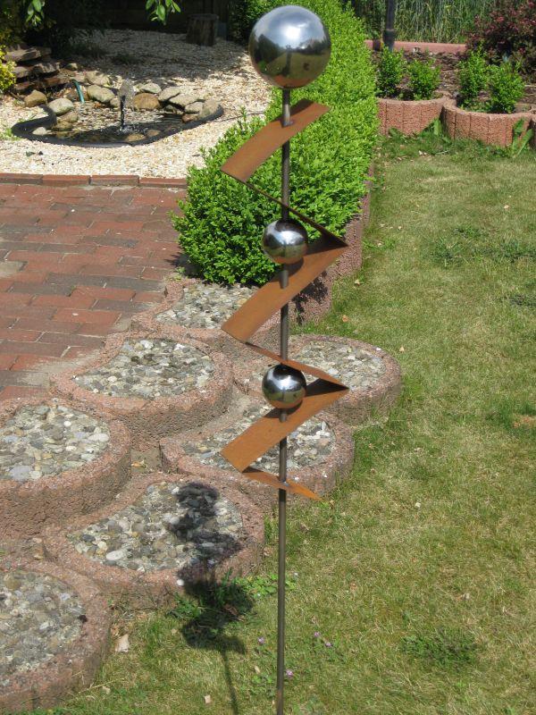 St300 gartenstecker edelrost stelle skulptur h he ca for Gartenstecker edelrost