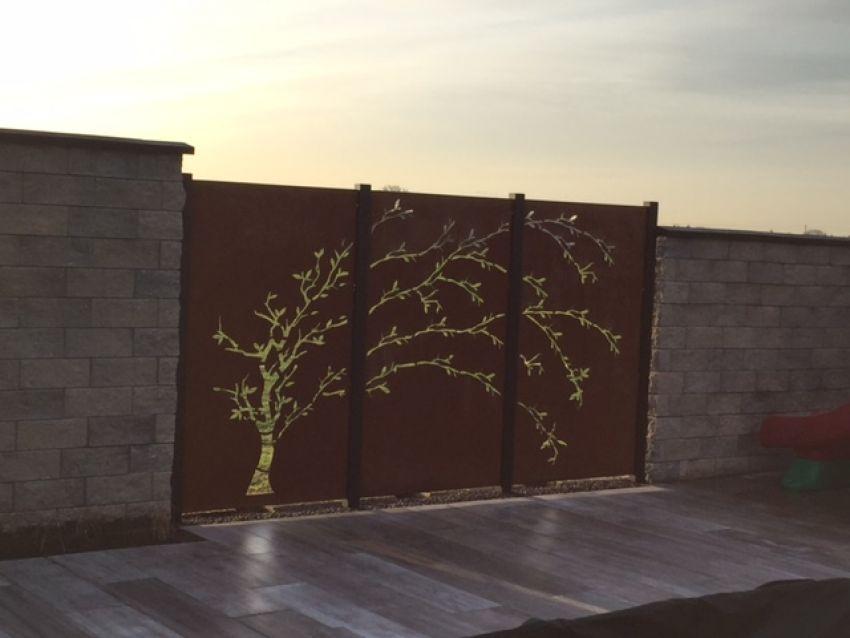 sichtschutz 3 teiliger baum aus cortenstahl jabo design. Black Bedroom Furniture Sets. Home Design Ideas